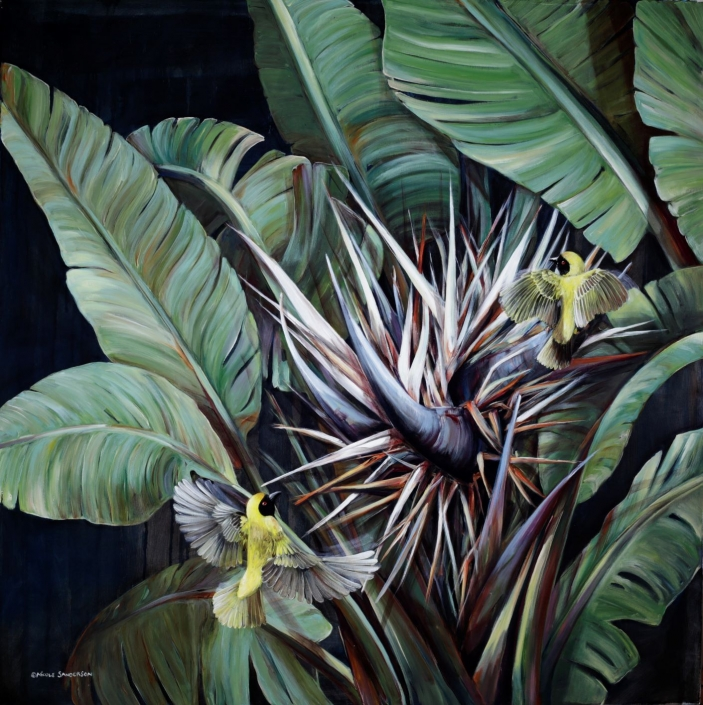 Where Wild Things Barely Grow 100 x 100cm Original Oil on Canvas